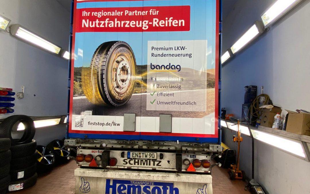 Folierung im Reifenkaufhaus Wuppertal