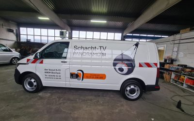 Fahrzeugbeschriftung bei Kanal Drabe in Bochum.