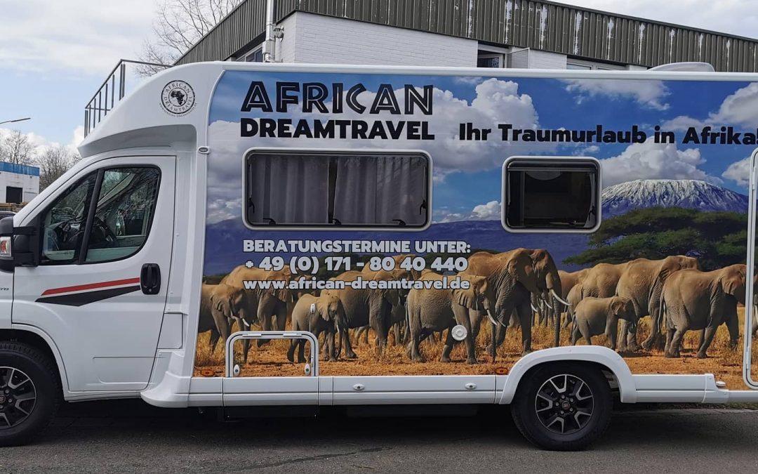 Fahrzeugbeschriftung für African Dreamtravel