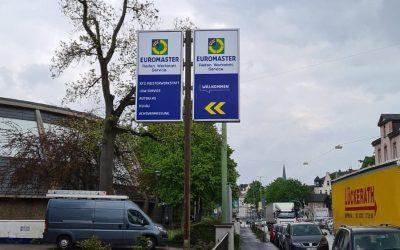 Lichtwerbeanlage in Hagen erneuert.
