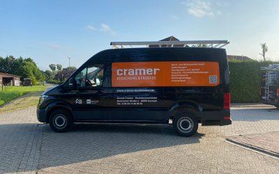 Fahrzeugbeschriftung bei DDM Dennis Cramer in Dornum
